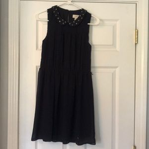 Navy dress from LOFT